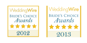Wedding Wire Bride's Choice Award Winner for 2012 & 2013 - DJ Dave Productions - Houston Wedding DJ